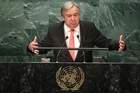 Antonio Guterres has kicked off his term as UN Secretary General with a profound - but impotent - plea for the world to put peace first. Photo / AP