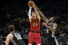 Atlanta Hawks guard Kyle Korver shoots against San Antonio Spurs. Photo/AP Photos