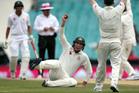 Australia's Matt Renshaw appeals for catch on Pakistan's Misbah-ul-Haq during their cricket test match in Sydney. Photo/AP Photos