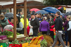 Locals were keen to check out Rotorua's new farmers' market. PHOTO/FILE
