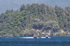 The search for a missing boatie on Lake Rotoiti this week. PHOTO/STEPHEN PARKER