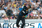 Black Caps bowler Ish Sodhi pictured in action for New Zealand against Australia. Photo/NZ Herald