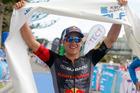 WINNING FEELING: Braden Currie celebrates winning last year's Port of Tauranga Half. PHOTO/FILE