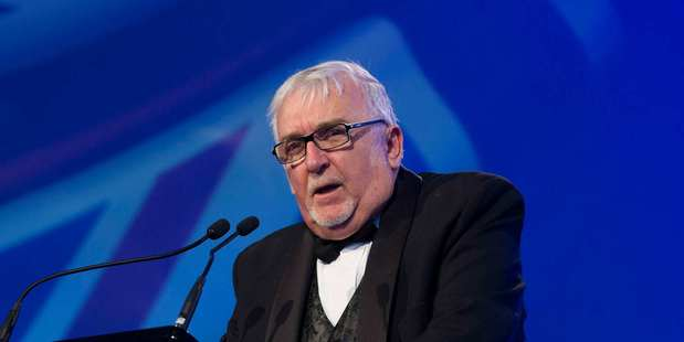 Sir Peter Leitch speaking at the Pride of NZ national awards in 2015. Photo / Greg Bowker