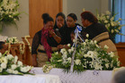 Mourners at a memorial service for the two people killed in the bus crash near Gisborne on Christmas Eve. A third person has now died.
