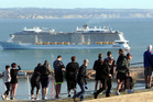 Ovation of the Seas arrives at Napier Port. Photo: Paul Taylor.