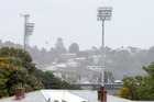 QUESTIONABLE: Light drizzle tomorrow morning could affect the match between the Black Caps and Bangladesh at McLean Park today. Photo Duncan Brown