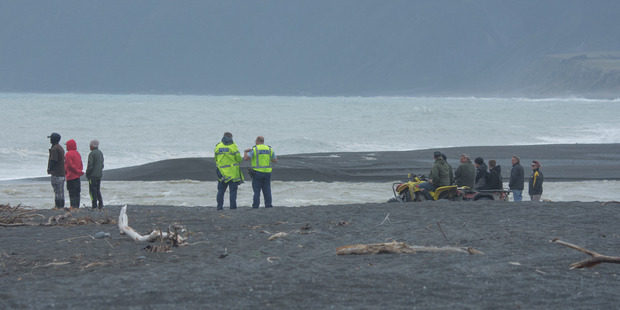 Search continues at Lake Ferry. Photo / Wairarapa Times-Age