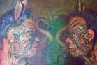 Tumatauenga oil on canvas by Bay artist Pita Kire.