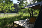 FRESH AIR: Glamping is just one of several accommodation options Waiwhenua Farmstay offers to those wanting a taste of a relaxed farming lifestyle. Photo/Supplied