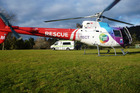 The Trustpower TECT Rescue Helicopter flew a pregnant woman to Auckland this morning. Photo/file