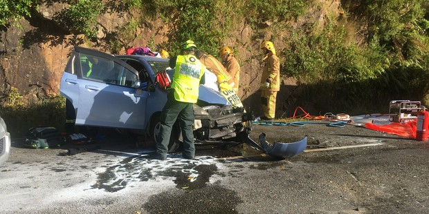 The scene at the Upper Buller Gorge. Photo / Greymouth Star