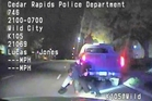 Cedar Rapids Police Department released dashcam footage from November 1 of an unarmed motorist Jerime Mitchell struggling with officer Lucas Jones before Mitchell is shot and paralysed. Photo / AP