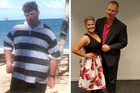 Matt Wolfs and Courtney Ley have lost more than 100kg between the two of them. Photos / Facebook