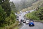 Traffic backs up at the scene of a crash on State Highway 36 between Tauranga and Rotorua. Photo/George Novak