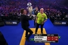 A member of the crowd stormed the stage at the World Darts Championship final, briefly stealing the trophy and interrupting eventual winner Michael van Gerwen Source : Sky Sports