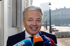 Didier Reynders arrives in New Zealand today and leaves on Saturday. Photo / AP