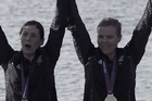 Sailing Olympic Gold medallists Polly Powrie and Jo Aleh on team strength. Source: NZ Olypmics