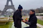 Former All Black Charles Piutau proposed to Lineti Latu in Paris. PHOTO/FACEBOOK