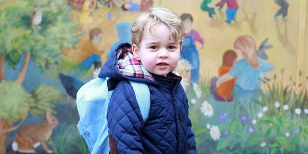 This image taken by the Duchess of Cambridge features Prince George on his first day of nursery. Photo / Supplied