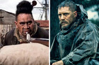 Danny Ligairi as Martinez and Tom Hardy as James Delaney in the mini series, Taboo.