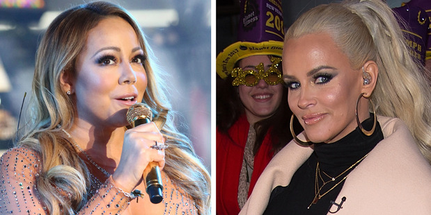 Jenny McCarthy says Mariah Carey is making excuses by blaming the production company for her NYE performance blunder. Photos / AP, Getty Images