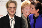 Meryl Streep is expected to farewell her friends Debbie Reynolds and Carrie Fisher at a public service. Photos / Getty Images, AP