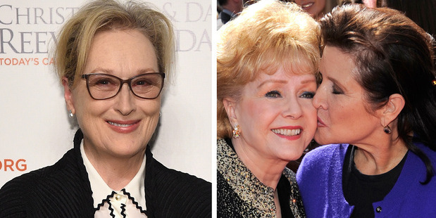 Loading Meryl Streep is expected to farewell her friends Debbie Reynolds and Carrie Fisher at a public service. Photos / Getty Images, AP