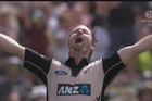 Footage from Sky.   Buccaneering hitter Colin Munro became just the third New Zealander to hit an international T20 century at Bay Oval in the second match of the series against Bangladesh today.