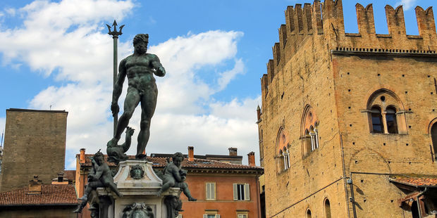 The nude statue of Neptune in one of Bologna's main piazzas dates from the 16th century. Photo / 123rf