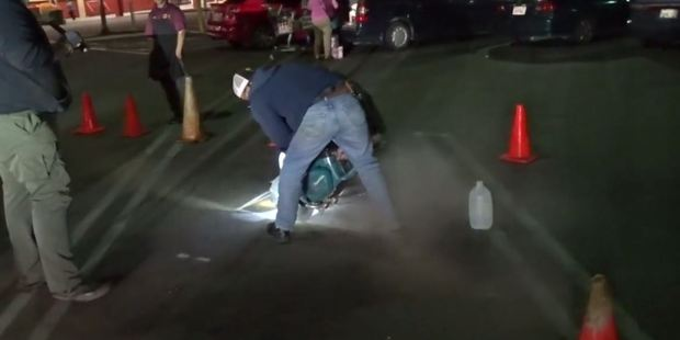 The rescue began after a homeless man alerted police to cries he heard coming from a drain in a shopping center parking lot off Freedom Boulevard. Photo / Wildlife Emergency Services
