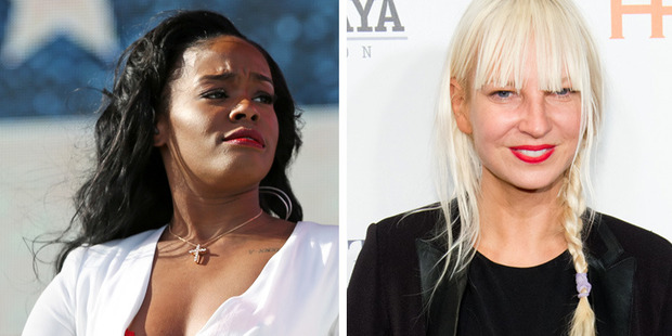 Sia is the latest celeb to find herself at odds with Azealia Banks. Photos / AP, Getty Images