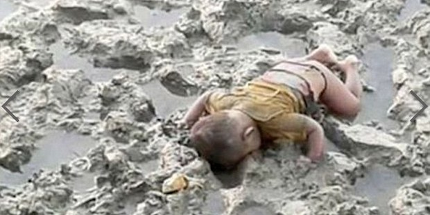 Mohammed Shohayet, a 16-month-old boy, who had been trying to leave his home in Rakhine State with his family and head to Bangladesh when he drowned.