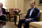 Billionaire investor Wilbur Ross (right), commerce secretary nominee for president-elect. Photo / Andrew Harrer