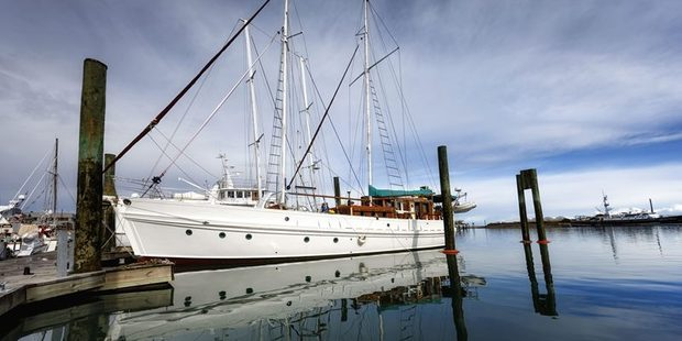 """Fiona Campbell bought the 1944 schooner for her """"seafaring"""" husband but they have since divorced. Photo/ Trade Me"""