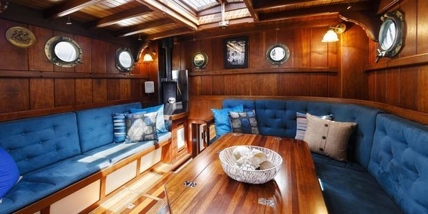 The Ruah has undergone 15 years of conversion to be turned from an Australian Navy yacht to a private boat.