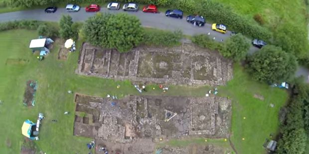 The unearthed section as viewed from the air.