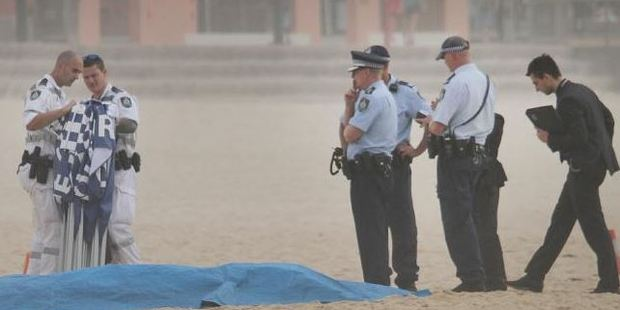 Police at Maroubra Beach. Photo / Supplied
