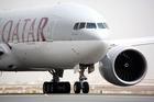 View of the Qatar Airways 777-200. Photo / Supplied