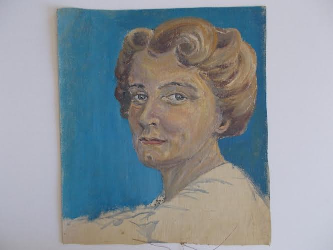 Oil Portrait of very close friend 'Dorothy Selby'.