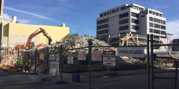 The demolition site on Tory St will remain a construction zone for a few years. Photo/Melissa Nightingale