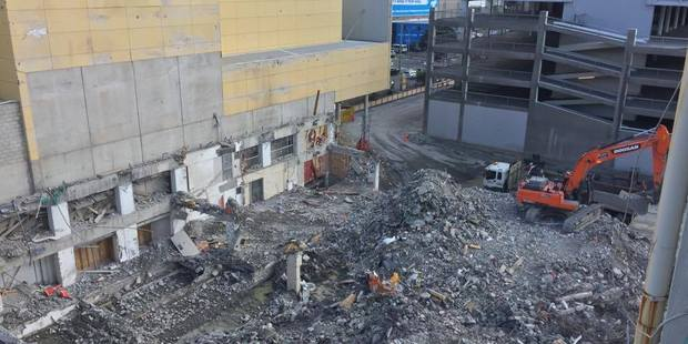 The Reading Cinema car park demolition site will remain a construction zone for some time. Photo/Melissa Nightingale