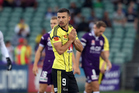 Kosta Barbarouses reacts after almost scoring for Wellington Phoenix against Perth Glory. Photo/Photosport