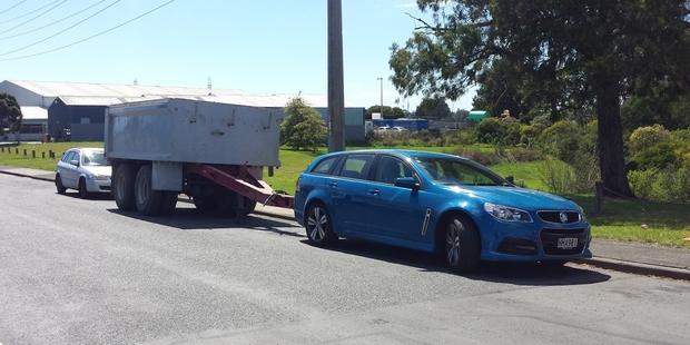 This Holden Commodore snapped in Glendale must have impressive towing power.