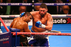 Tony Bellew lands a right hand against David Haye in his upset victory in London. A fight against Kiwi Joseph Parker is now on cards. / Photo: Photosport