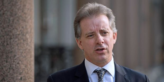 Christopher Steele, former British intelligence officer, in London. Photo / AP