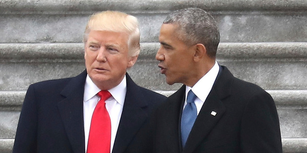 President Donald Trump and former president Barack Obama. Photo / AP