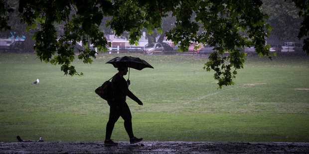 Expect heavy rain in the region today and tomorrow.  Photo/File