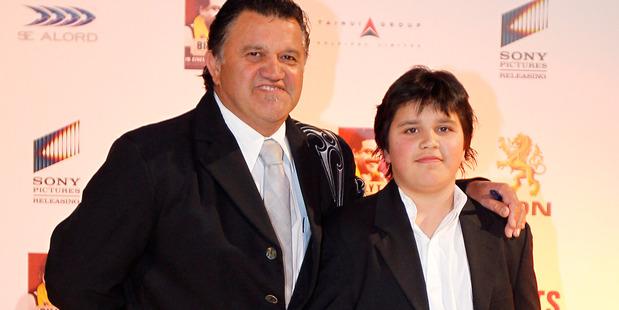 Pio Terei and Teina at Billy T James movie premiere. Photo / Christine Cornege