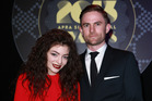 Lorde and Joel Little at the APRA Silver Scroll Awards at Vector Arena in 2013. Photo / Norrie Montgomery